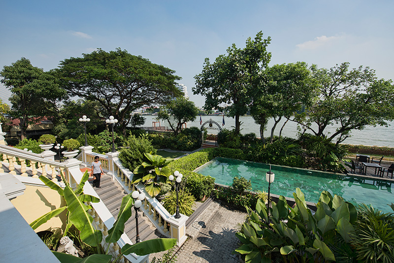 One of the most tranquil spots overlooking the Chao Phraya river