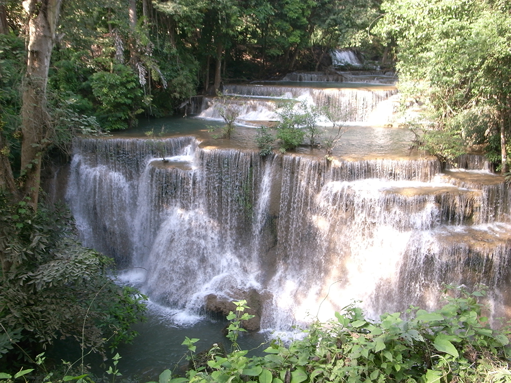 Huay Maekhamin is by far the most beautiful waterfall in Kanchanaburi with different levels