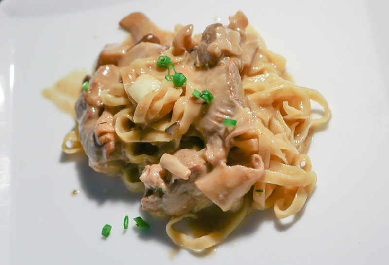 Taliatelle with Mushroom and Braised Pork