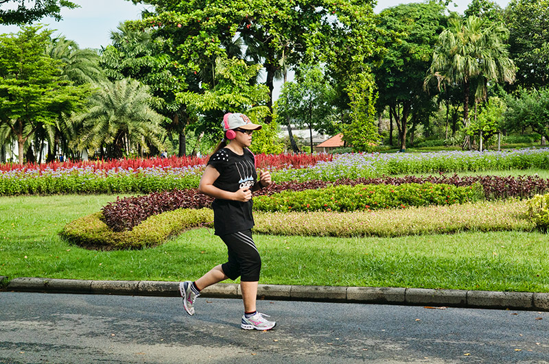 Suan Luang Rama IX Park is a jogger's paradise