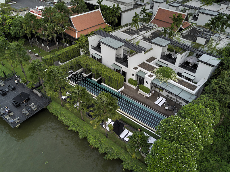 Aerial View of The Siam Hotel