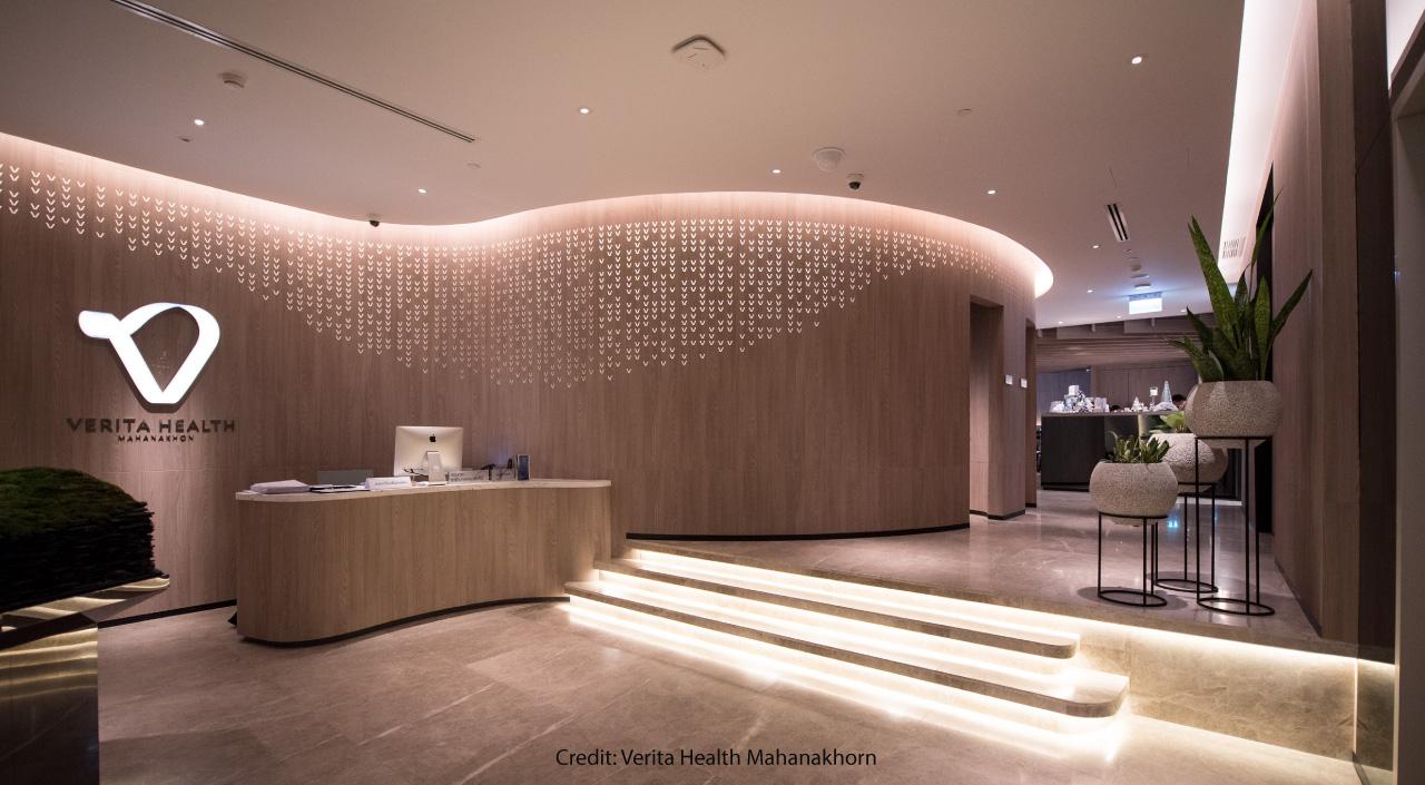 Verita Health MahaNakhon's reception area