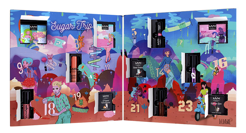 NYX Sugar Advent Calendar features